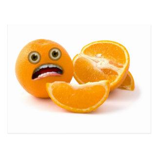 ¡EEEK! Hacia fuera subrayado naranja Postales