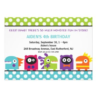 Eeek! Rawr! Monster Invitation