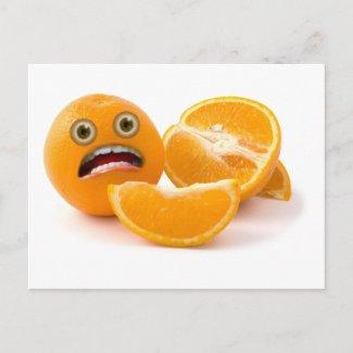 EEEK! Stressed Out Orange postcard
