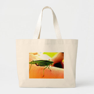 Eeek!  There's a grasshopper on my arm! Bags