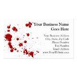 Eeew, es esa sangre en su tarjeta de negocio