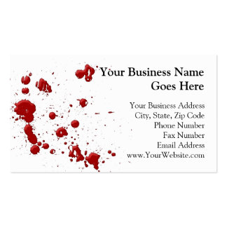 Eeew is that blood on your business card template