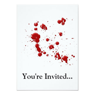 Eeew, is that blood on your card
