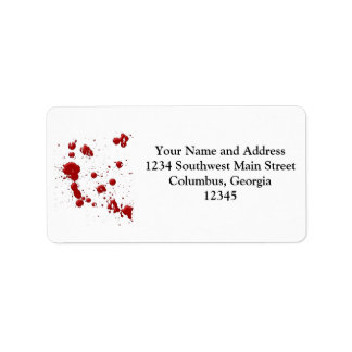 Eeew, is that blood on your custom address labels