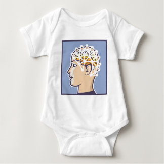 EEG brainwave reading Vector Baby Bodysuit