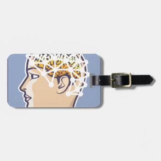 EEG brainwave reading Vector Bag Tag
