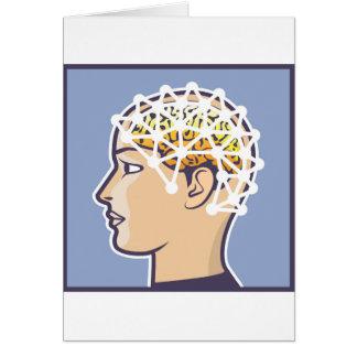 EEG brainwave reading Vector Card