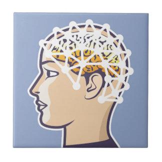 EEG brainwave reading Vector Ceramic Tile