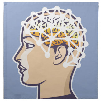 EEG brainwave reading Vector Cloth Napkin