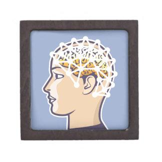 EEG brainwave reading Vector Gift Box