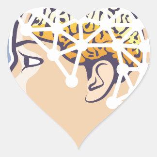 EEG brainwave reading Vector Heart Sticker