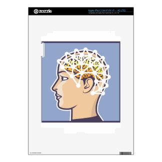 EEG brainwave reading Vector iPad 3 Skins
