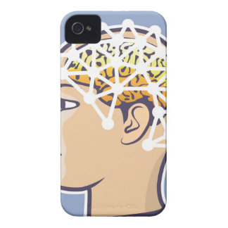 EEG brainwave reading Vector iPhone 4 Case-Mate Case