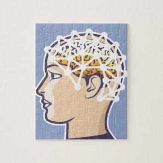EEG brainwave reading Vector Jigsaw Puzzle