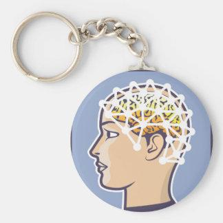 EEG brainwave reading Vector Keychain