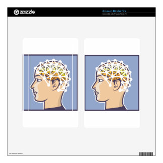 EEG brainwave reading Vector Kindle Fire Skin