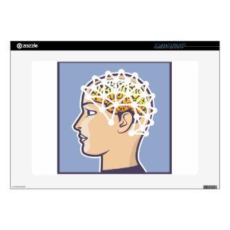 EEG brainwave reading Vector Laptop Decals