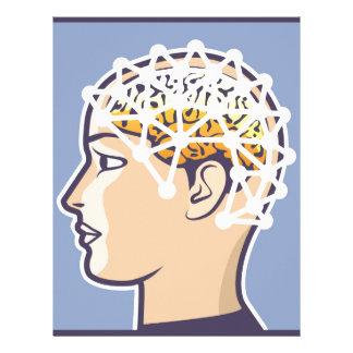 EEG brainwave reading Vector Letterhead