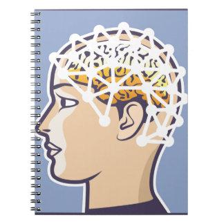 EEG brainwave reading Vector Notebook