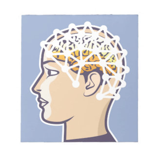 EEG brainwave reading Vector Notepad