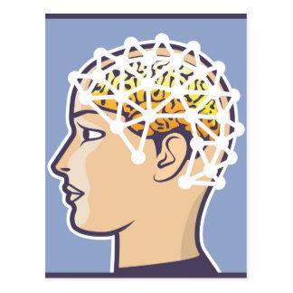 EEG brainwave reading Vector Postcard