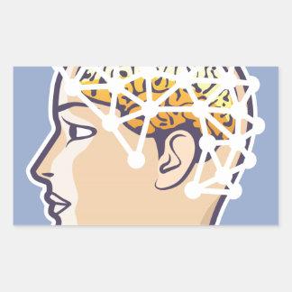EEG brainwave reading Vector Rectangular Sticker