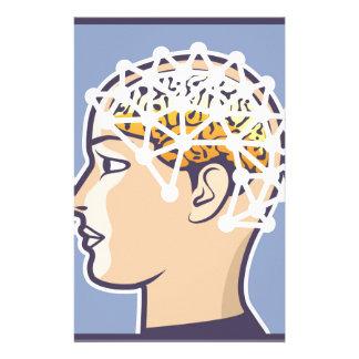 EEG brainwave reading Vector Stationery