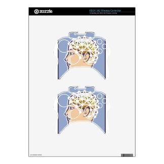 EEG brainwave reading Vector Xbox 360 Controller Skins