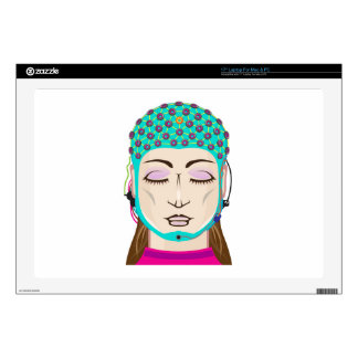 EEG device Mind reading scanning Brain signals Decal For Laptop