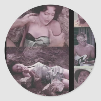 Eegah B-Movie Stuff Classic Round Sticker