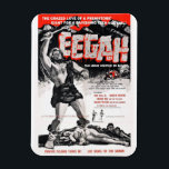 """&quot;Eegah&quot; Magnet<br><div class=""""desc"""">In this 1962 horror film teenagers discover a giant cavemen stalking the Palm Springs desert! &quot;Watch out for snakes !&quot; Fun Film Fact: Ray Dennis Steckler was assistant cameraman and the guy throw in the pool in the film!</div>"""