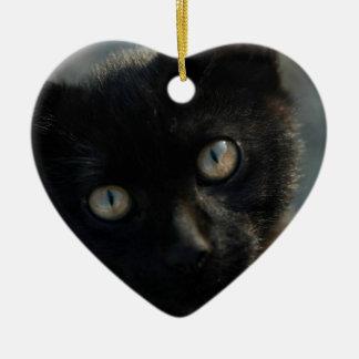 EEK Black Cat Scary Ceramic Ornament