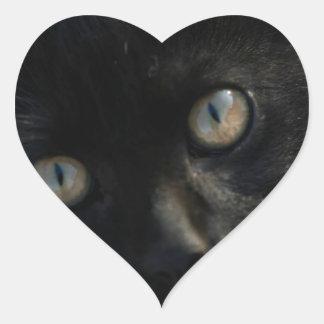 EEK Black Cat Scary Heart Sticker