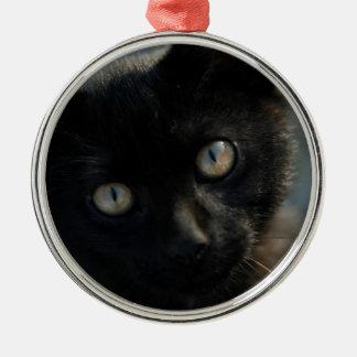 EEK Black Cat Scary Metal Ornament
