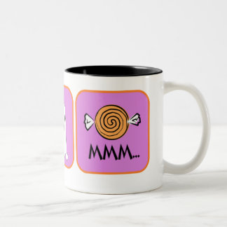 Eek, Boo, Mmmm Two-Tone Coffee Mug