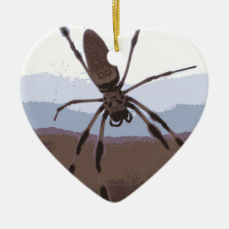 Eek! Brown spider! Ceramic Ornament