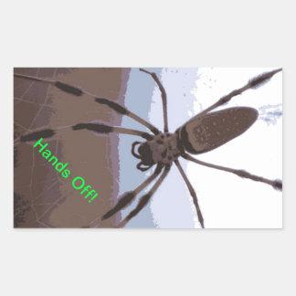 Eek! Brown spider! Rectangular Sticker