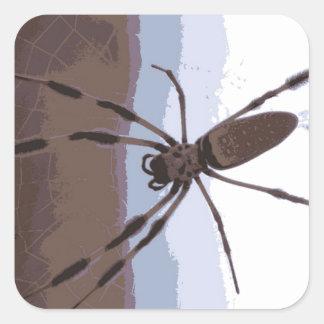 Eek! Brown spider! Square Sticker