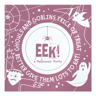 Eek Halloween Invitations