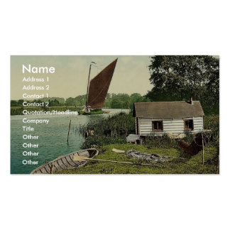 Eel fisher's hut on the Bore, (i.e., Bure River) E Double-Sided Standard Business Cards (Pack Of 100)