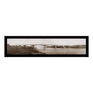 Eel River Bridge Humboldt Photo 1912 Poster
