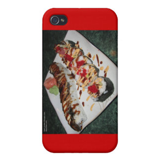 Eel Sushi & Ca Roll Gifts Cards Mugs Etc Cover For iPhone 4