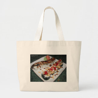 Eel Sushi & Ca Roll Print Gifts Cards Mugs Etc Large Tote Bag