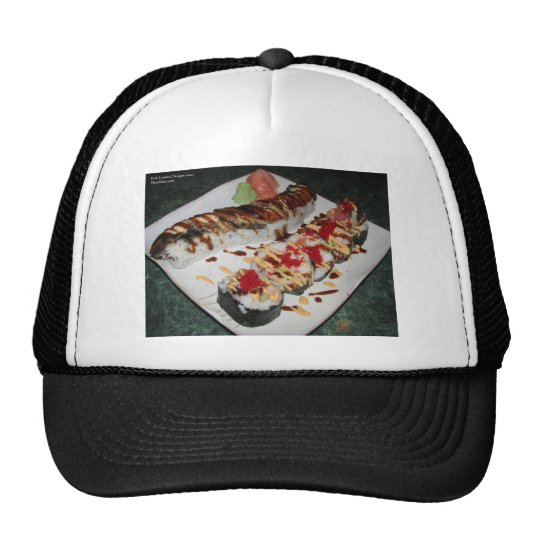 Eel Sushi & Ca Roll Print Gifts Cards Mugs Etc Trucker Hat