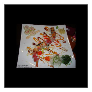 Eel Sushi Roll Elegant Home/Office Decor Poster Posters