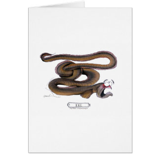 Eel, tony fernandes greeting card