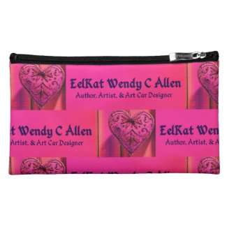 EelKat Wendy Christine Allen - author logo Cosmetic Bag