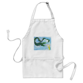 Eels eat bananas! adult apron