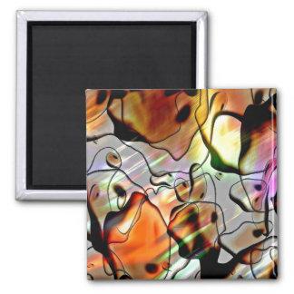 Eerie Abstract Fridge Magnet