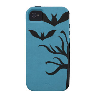 Eerie Bats iPhone 4 Vibe Case, Blue iPhone 4 Cover